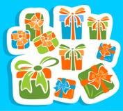 Rectángulos de regalo fijados Fotografía de archivo libre de regalías