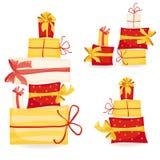 Rectángulos de regalo fijados Foto de archivo libre de regalías