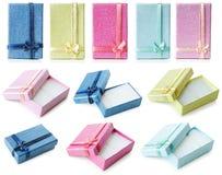 Rectángulos de regalo fijados | Aislado Fotos de archivo