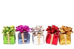 Rectángulos de regalo para la Navidad Fotografía de archivo