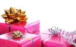 Rectángulos de regalo rosados Foto de archivo libre de regalías