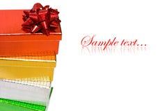 Rectángulos de regalo Varicoloured Fotografía de archivo libre de regalías