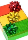 Rectángulos de regalo Varicoloured Foto de archivo