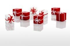 Rectángulos de regalos imagenes de archivo