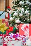 Rectángulos del árbol de navidad y de regalo Fotos de archivo libres de regalías