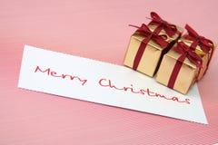 Rectángulos del Año Nuevo con una tarjeta congratulatoria Imagenes de archivo