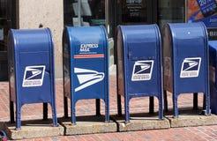 Rectángulos del correo de los E.E.U.U. Foto de archivo