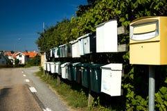 Rectángulos del correo de Suecia Imagen de archivo