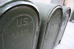 Rectángulos del correo en los Estados Unidos Foto de archivo libre de regalías