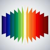 Rectángulos del extracto del arco iris de la perspectiva en blanco stock de ilustración