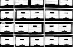 Rectángulos del fichero en estante Imagen de archivo