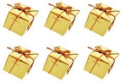 Rectángulos del oro Fotos de archivo libres de regalías