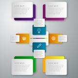 Rectángulos del papel del infographics del ejemplo del vector libre illustration