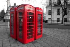 Rectángulos del teléfono de Londres Foto de archivo libre de regalías