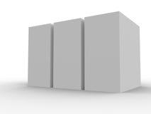 Rectángulos en blanco Imagen de archivo libre de regalías