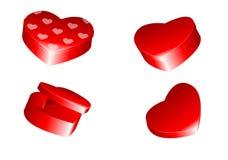 Rectángulos en forma de corazón Imagen de archivo