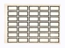 Rectángulos negros Fotografía de archivo