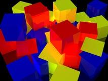 Rectángulos que brillan intensamente del RGB Fotos de archivo