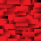 Rectángulos rojos Fotografía de archivo libre de regalías