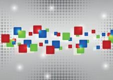 Rectángulos rojos abstractos del verde azul Imagen de archivo libre de regalías