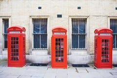 Rectángulos rojos del teléfono Imágenes de archivo libres de regalías