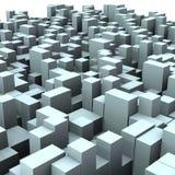 rectángulos urbanos abstractos de la ciudad 3d del cubo 01 Foto de archivo libre de regalías