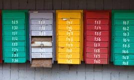 Rectángulos viejos del poste Fotografía de archivo libre de regalías