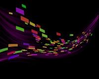 Rectángulos y ondas de la violeta Fotos de archivo