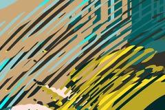 Rect?ngulos azules 2 Formas y formas coloridas creativas Modelo geom?trico Textura gr?fica brillante verde, amarilla y azul libre illustration