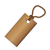 Rectangel brown tag Royalty Free Stock Images