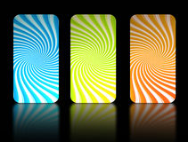 Rectangle. Blue, green  and orange  rectangle  over black background Royalty Free Stock Image