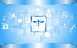 Rectangle abstract health care concept background Stock Photo