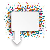 Rectangle Arrow Pointer Confetti Stock Images