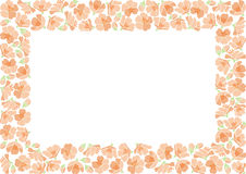 Rectangle backround with apple flowers Stock Photos