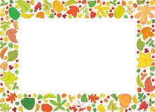 Rectangle backround with autumn leaves Stock Photos