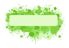 Rectangle banner with green blurs Royalty Free Stock Photography