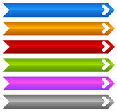 Rectangle banners / buttons / labels in several color Royalty Free Stock Photos