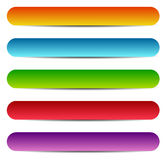 Rectangle banners / buttons / labels in several color Stock Image
