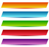 Rectangle banners / buttons / labels in several color Stock Images