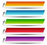 Rectangle banners / buttons / labels in several color Royalty Free Stock Image