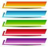Rectangle banners / buttons / labels in several color Royalty Free Stock Photography