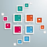 4 Rectangle Banners Cycle Flash Royalty Free Stock Image