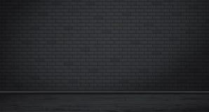 Rectangle black brick wall texture with wooden floor. Vector illustration. Rectangle black brick wall texture with wooden floor. Vector illustration vector illustration