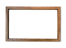Rectangle blank wood frame on white background Royalty Free Stock Photography