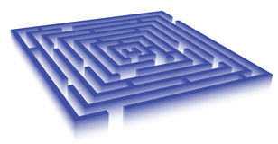 Rectangle blue maze Stock Images