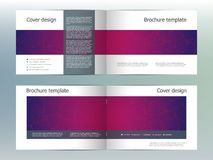 Rectangle brochure template layout, cover, annual report, magazine in A4 size with dna molecule structure. Geometric Stock Images