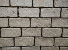 Rectangle brown brick wall. background. wallpaper. building. Photo Stock Image