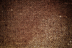 Rectangle from  brown saskcloth Royalty Free Stock Images