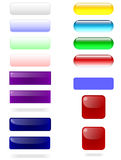 Rectangle buttons. Vector illustration of colored rectangle buttons Royalty Free Stock Images