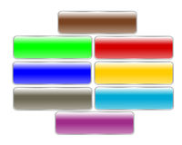 Rectangle buttons Royalty Free Stock Photo